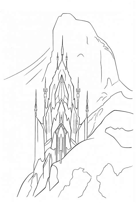 Frozen Coloring Pages Elsa Ice Castle | elsa castle coloring page google search art projects