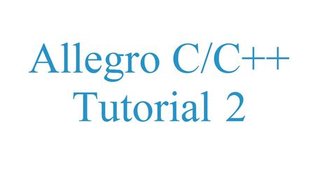 tutorial c allegro allegro 5 c c tutorial 2 janelas youtube