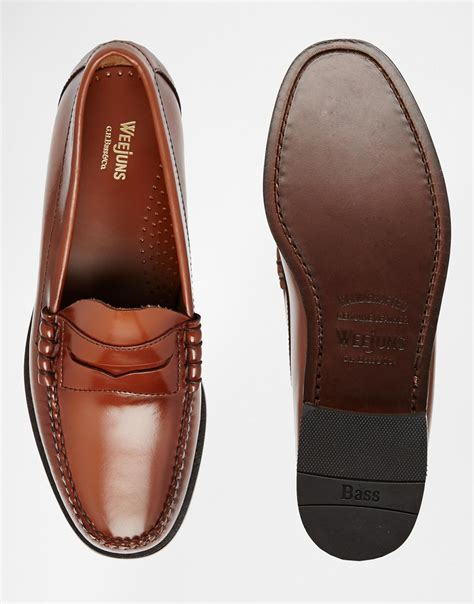 gh bass larson loafers lyst g h bass co gh bass larson loafers in