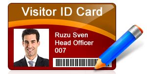 pattern visitor exle download visitors gate pass id cards maker software to