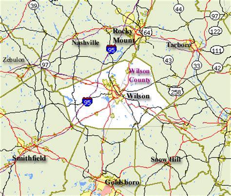 wilson carolina map wilson county map