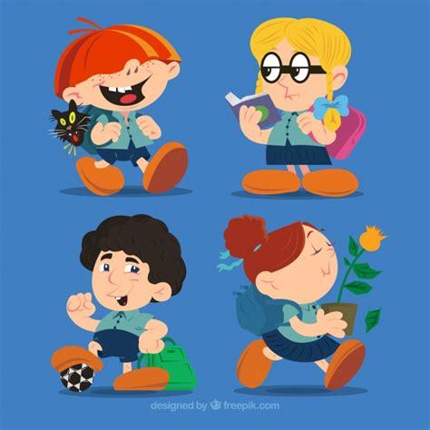 imagenes gratis estudiantes personajes de dibujos animados de estudiantes descargar