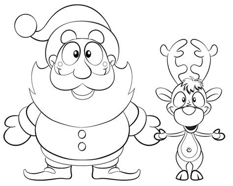santa and reindeer coloring pages printable new calendar