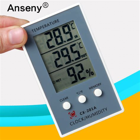 Thermometer Termometer Hygrometer Indoor Outdoor indoor outdoor thermometer hygrometer finger thermometer