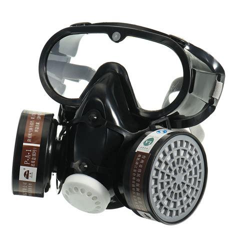 Baoweikang Masker Gas Respirator new respirator gas mask safety chemical anti dust filter eye goggle set workplace