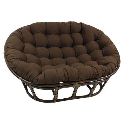 international caravan rattan double papasan chair  micro suede cushion reviews wayfair