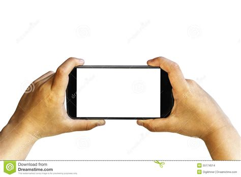 twoo mobile two isolated holding smartphone stock photo image