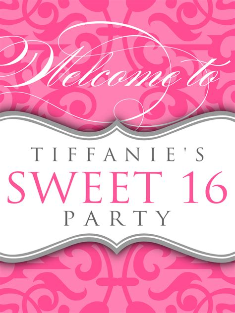 How To Design A Banner For Sweet Sixteen The Great Gatsby Theme | signatures by sarah sweet sixteen stationery for lien