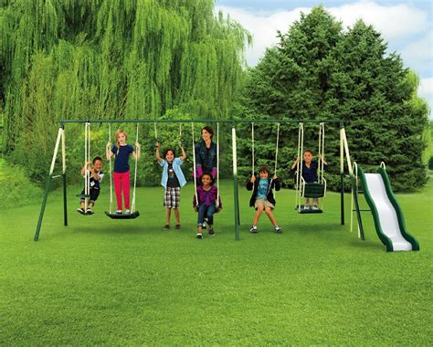 childrens outdoor swing 9 play metal play set swing and slide with kmart