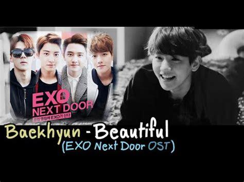 ost film exo next door thaisub karaoke baekhyun beautiful exo next door ost