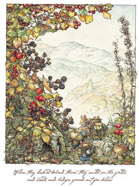 Charming Christmas Card Print #8: Walk-to-the-high-hills-brambly-hedge.jpg