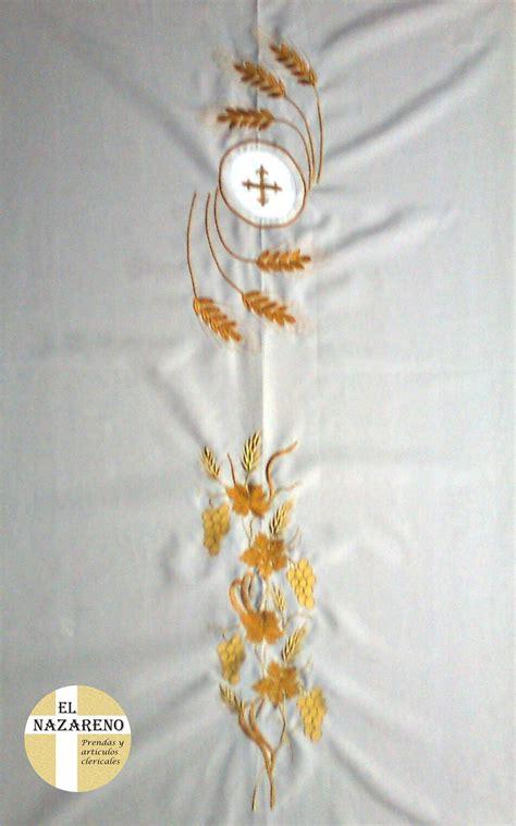 imagenes caliz uvas espigas casulla blanca bordada espigas 171 el nazareno el nazareno