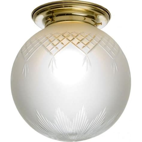 Flush Fit Ceiling Lights Flush Fitting Globe Glass Ceiling Light Fixed To Gold Ceiling