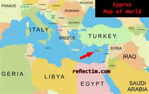 Cyprus World Map by Map Of World Cyprus 187 Travel