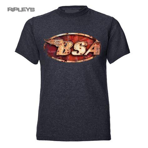 Tshirt Bsa official t shirt bsa motorbike grey classic logo