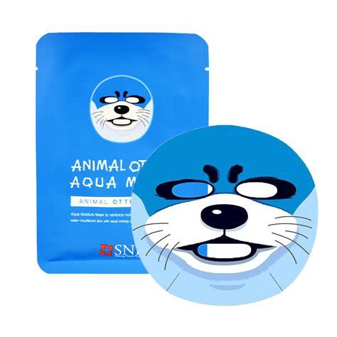animal otter aqua face mask