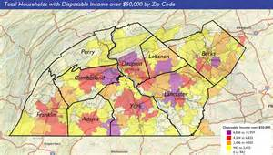 central zip code map wealth facts disposable income in central pennsylvania