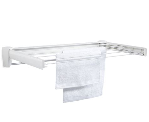 Wall Mounted Sweater Drying Rack by Wall Mount Telescoping Drying Rack In Laundry Drying Racks