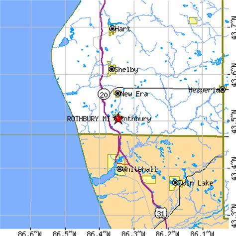 rothbury michigan map rothbury michigan mi population data races housing