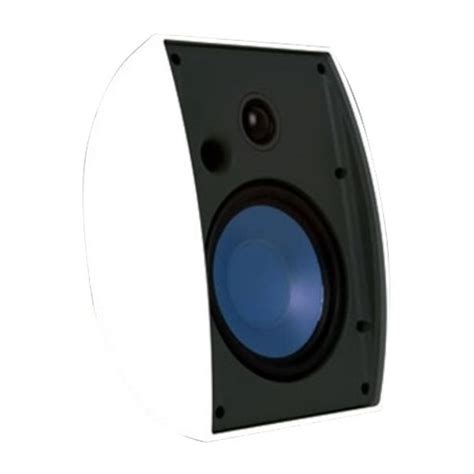 emphasys 5 1 4 quot 2 way bookshelf speakers each white