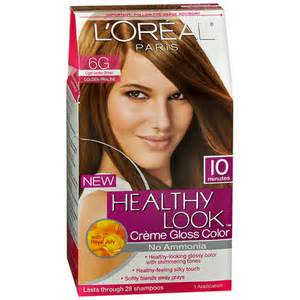 6g hair color loreal healthy look creme gloss hair color light golden