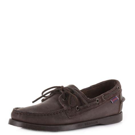 boat deck shoes mens sebago spinnaker dark brown docksides leather boat