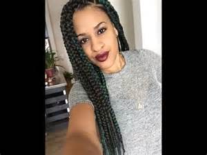 how to part hair for boxed braids triangle parted box braids easy youtube