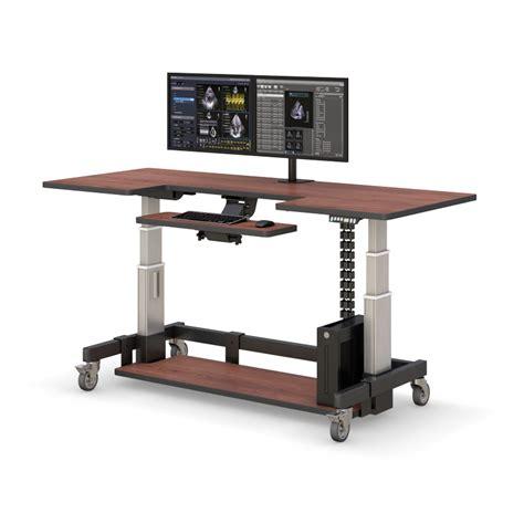 Rolling Standing Desk by Adjustable Height Rolling Computer Desk Afcindustries