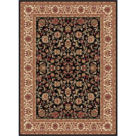 10 X 6 Area Rug Tayse Rugs Sensation Black 10 Ft 6 In X 14 Ft 6 In Traditional Area Rug Sns4813 11x15 The