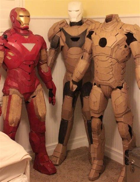 How To Make Iron Suit Out Of Paper - cardboard iron suits bind eco friendly souls with iron