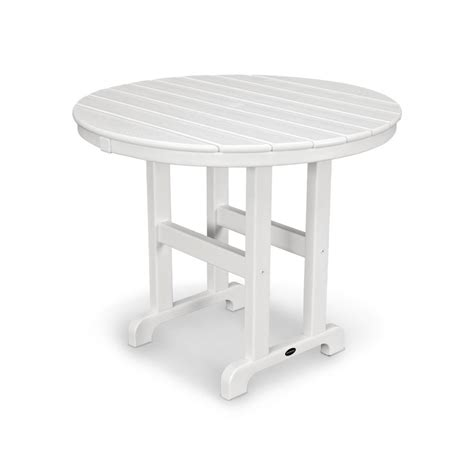 white plastic outdoor table resin outdoor side tables patio the home depot plastic