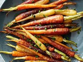 colorful carrots roasted rainbow carrots recipe food network kitchen