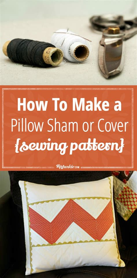 How To Make A Pillow Cover by How To Make A Pillow Sham Or Cover Sewing Pattern Tip