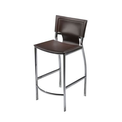 bar stools somerville ma sedona chrome bar counter stool in regenerated leather