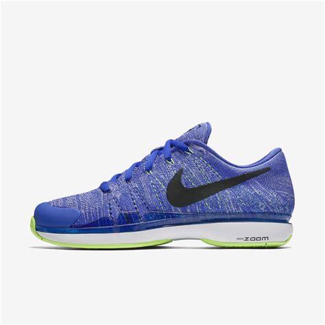 nike mens zoom vapor 9 5 rf flyknit qs tennis shoes blue