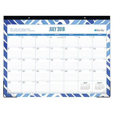 blue sky desk calendar blue sky academic monthly desk pad calendar 17 x 13