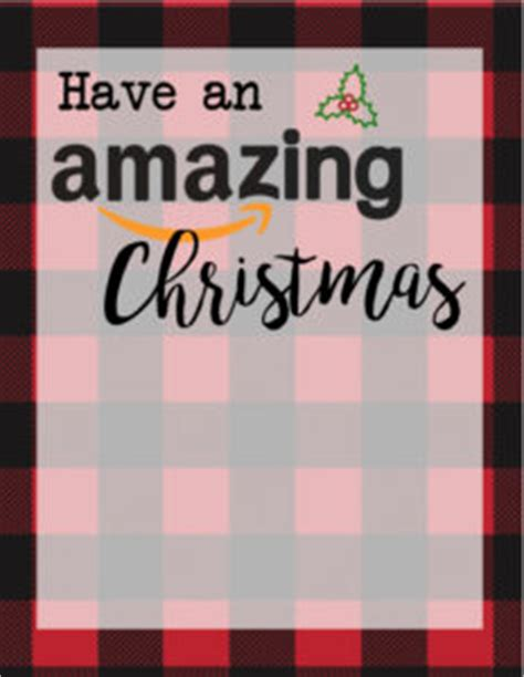 Amazon Christmas Gift Cards - printable christmas gift card holders for amazon paper trail design