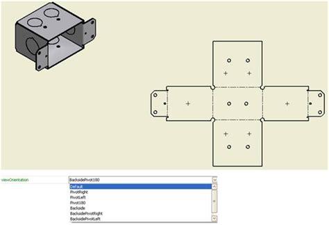 flat pattern drawing inventor flat pattern view