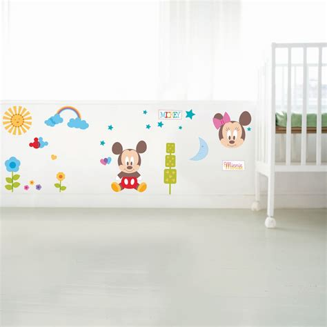mickey and minnie wall stickers mickey and minnie baby wall