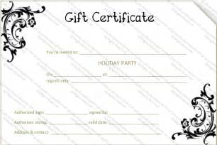 Gift Certificate Template by Black Flower Gift Certificate Template Gift Certificates