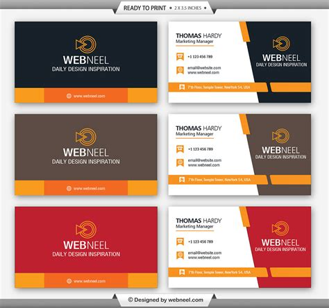 business cards templates one corporate business card template 1 freedownload printing