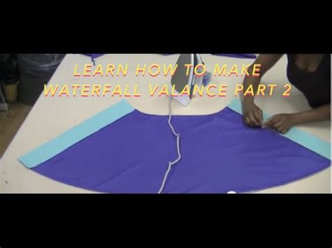 how to make swag curtains learn how to make waterfall valance part 2 youtube