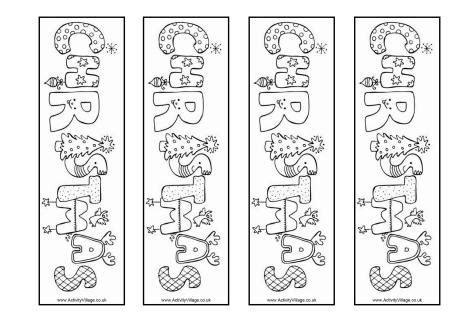 printable holiday bookmarks to color christmas word colouring bookmarks
