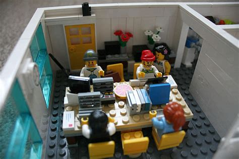 Home Interior Parties office space made from lego bricks at yard digital in