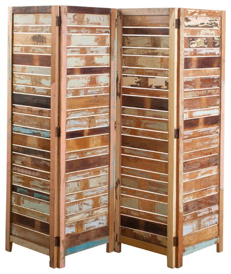 Reclaimed Wood Room Divider Reclaimed Wood 4 Panel Screen Rustic Screens And Room Dividers By C G Sparks