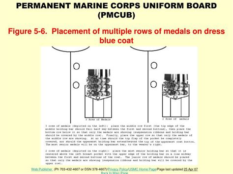 female regulations marine corps presentation ppt figure 5 6 placement of multiple rows of medals on