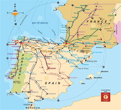 camino de santiago route map camino de santiago routes search hiking running