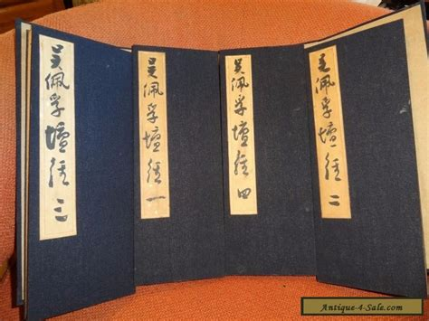 in china books 4 antique scroll books in