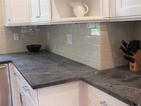 Backsplash Tile For Kitchens by White Soapstone Countertops Kitchen Contemporary With