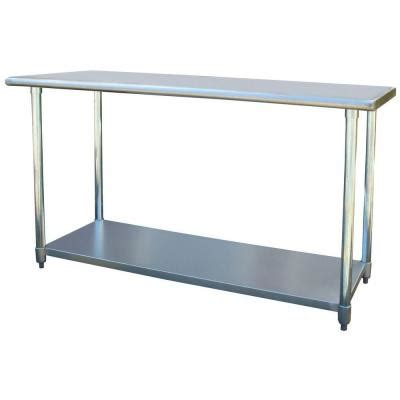 home depot kitchen table sportsman 24 in x 60 in stainless steel utility work